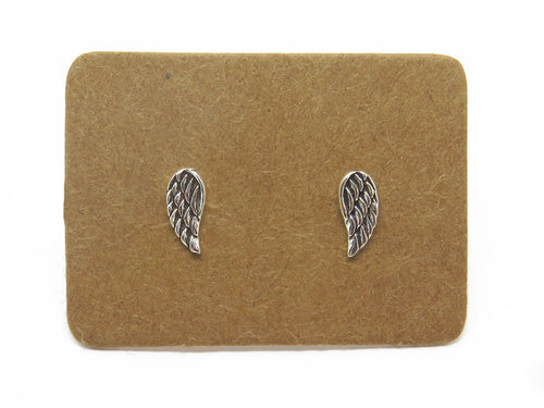 STERLING SILVER ANGEL WING EAR STUDS - MPL070 - Miss Pretty London UK Limited