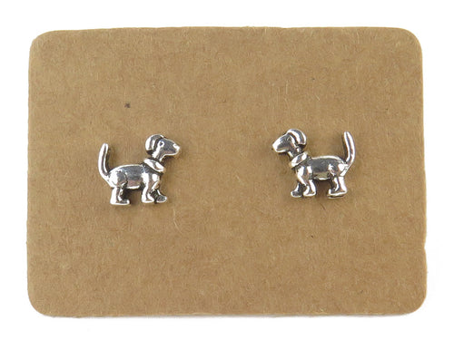 STERLING SILVER DOG EAR STUDS