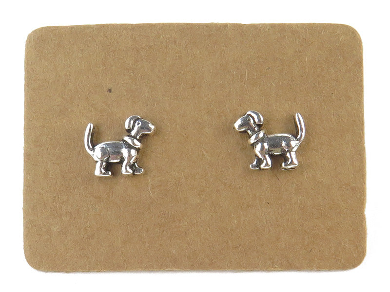 STERLING SILVER DOG EAR STUDS - MPL051