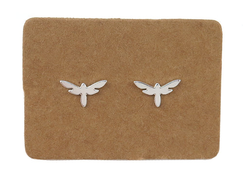 STERLING SILVER DRAGONFLY EAR STUDS