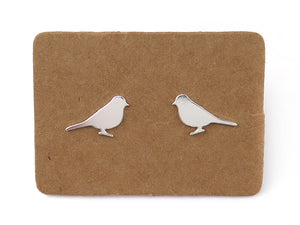 STERLING SILVER SPARROW EAR STUDS