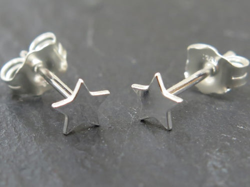 STERLING SILVER STAR EAR STUDS