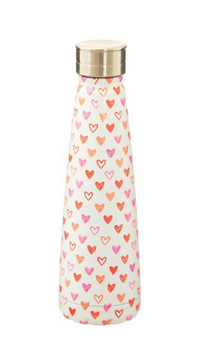 Red Love Heart Stainless Steel Water Bottle - Miss Pretty London UK Limited