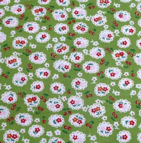 Green_Cherry_Blossom_Cotton_Fabric