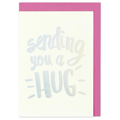 Sending you a hug Greeting Card - RBL010 - Miss Pretty London UK Limited