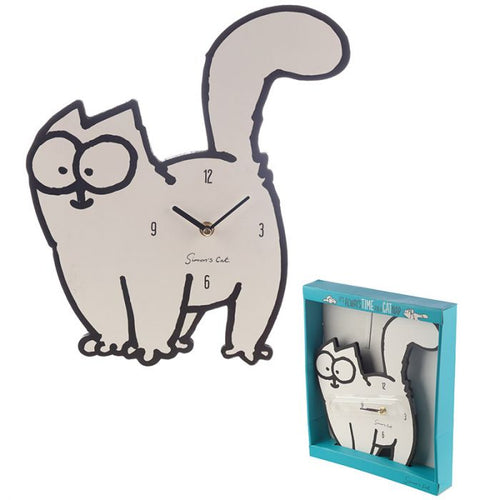 Simon's Cat Shaped Picture Clock
