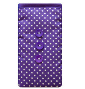 Purple Polka Dot Print Mobile Phone Sock Pouch - Miss Pretty London UK Limited