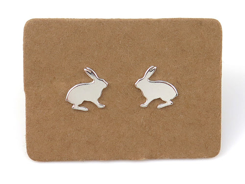 Sterling Silver Hare Ear Studs - MPL200