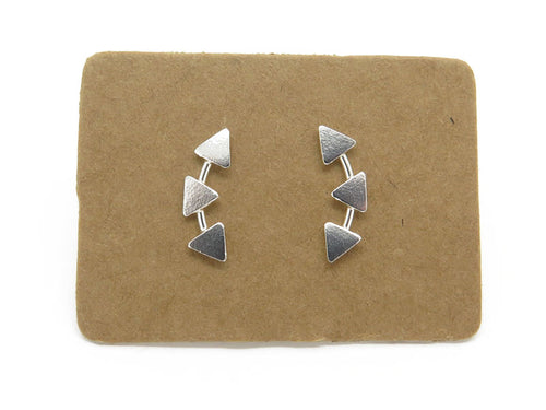 Sterling Silver Triangle Ear Creeper Studs - mpl021