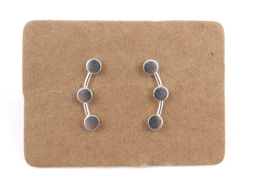 Sterling Silver Circle Ear Creeper