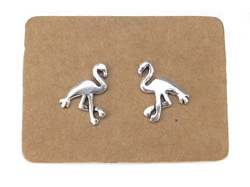 Sterling Silver Flamingo Ear Studs - mpl014