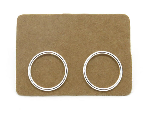 Sterling Silver Open Circle Ear Studs