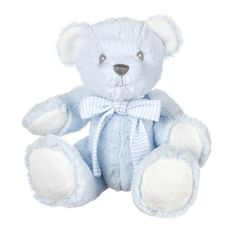 Suki Baby Blue Hug-a-Boo Bear with Rattle (7 Inch)