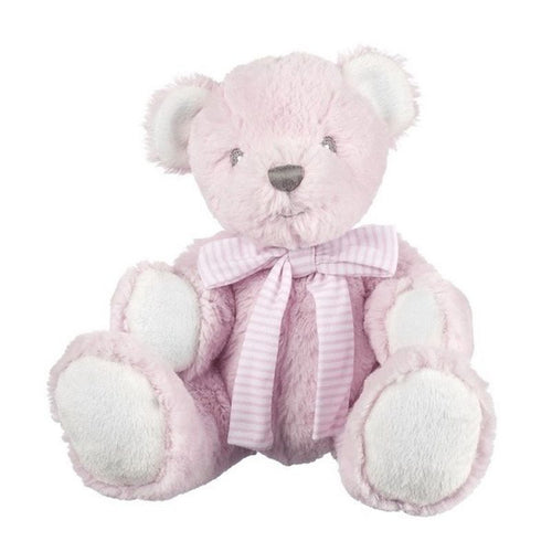 Suki Baby Pink Hug-a-Boo Bear with Rattle