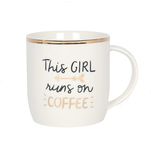 THIS GIRL RUNS ON COFFEE MUG - Miss Pretty London UK Limited
