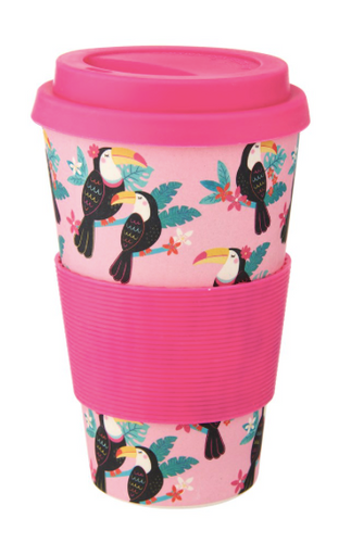 TIKI TOUCAN BAMBOO COFFEE CUP - Miss Pretty London UK Limited