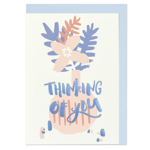 Thinking of you Greeting Card - RBL011 - Miss Pretty London UK Limited