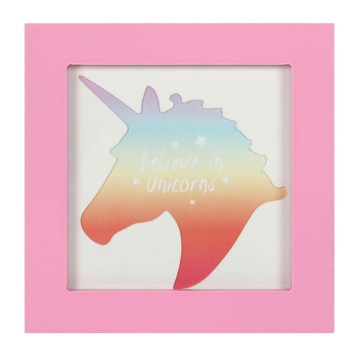 Small Pink Unicorn Photo Frame