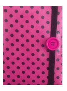 Cerise Pink Polka Dot Print E-Reader Case - Miss Pretty London UK Limited