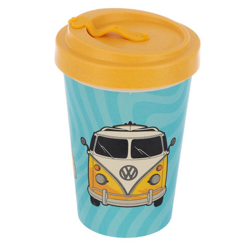 Volkswagen VW T1 Camper Bus Surf Adventure Reusable Screw Top Bamboo Composite Travel Mug - Miss Pretty London UK Limited