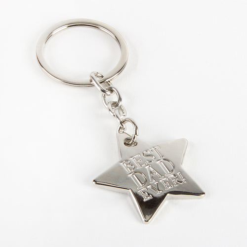 Metal Star Keyring - Best Dad Ever