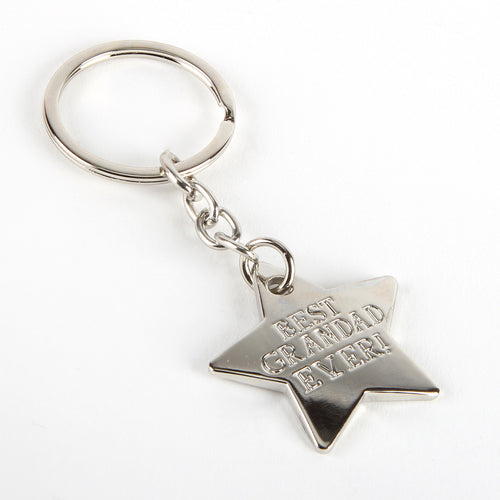 Metal Star Keyring - Best Grandad Ever
