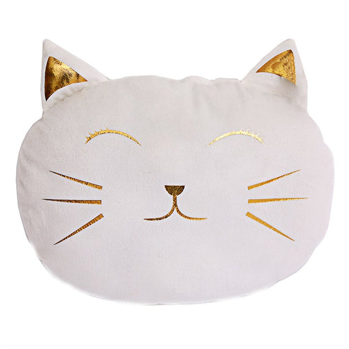 WHITE CAT FACE CUSHION