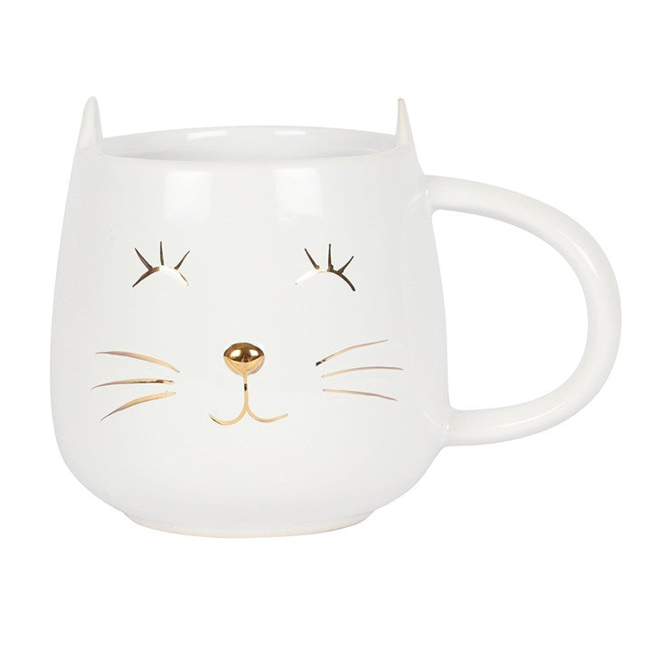 WHITE CAT FACE MUG - Miss Pretty London UK Limited