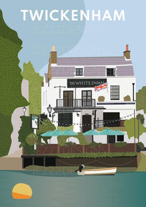 The White Swan Twickenham Print