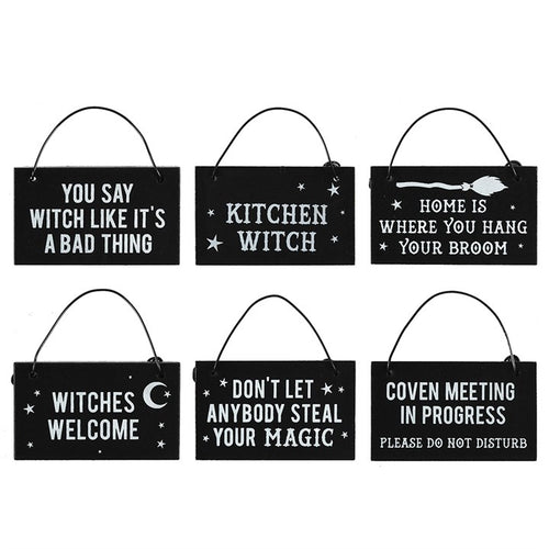 WITCHY HANGING MINI SIGNS