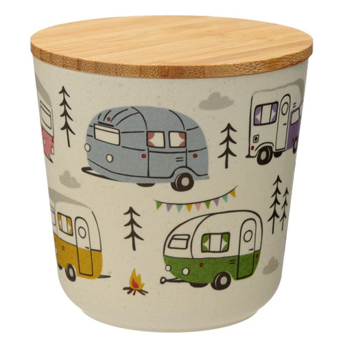 Wildwood Caravan Bamboo Composite Small Round Storage Jar - Miss Pretty London UK Limited