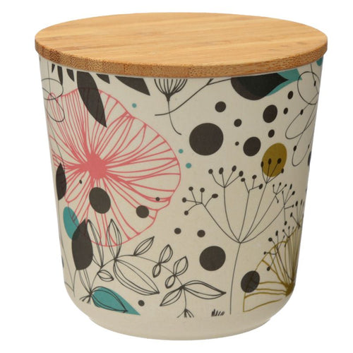 Wisewood Botanical Bamboo Composite Small Round Storage Jar - Miss Pretty London UK Limited