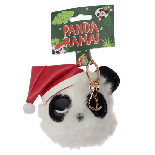 Fun Collectable Pom Pom Keyring - Christmas Pandarama
