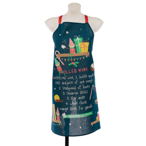 Christmas Elf Mulled Wine Poly Cotton Apron
