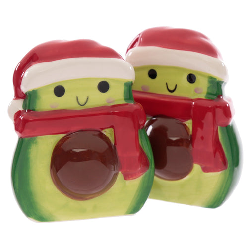 Fun Festive Christmas Avocado Salt and Pepper Set