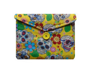 Yellow Mexican Skulls Tablet Bag - Miss Pretty London UK Limited