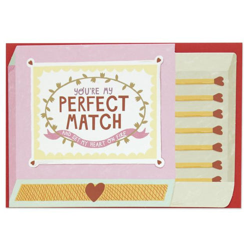 You're my Perfect Match Greeting Card - RBL009 - Miss Pretty London UK Limited