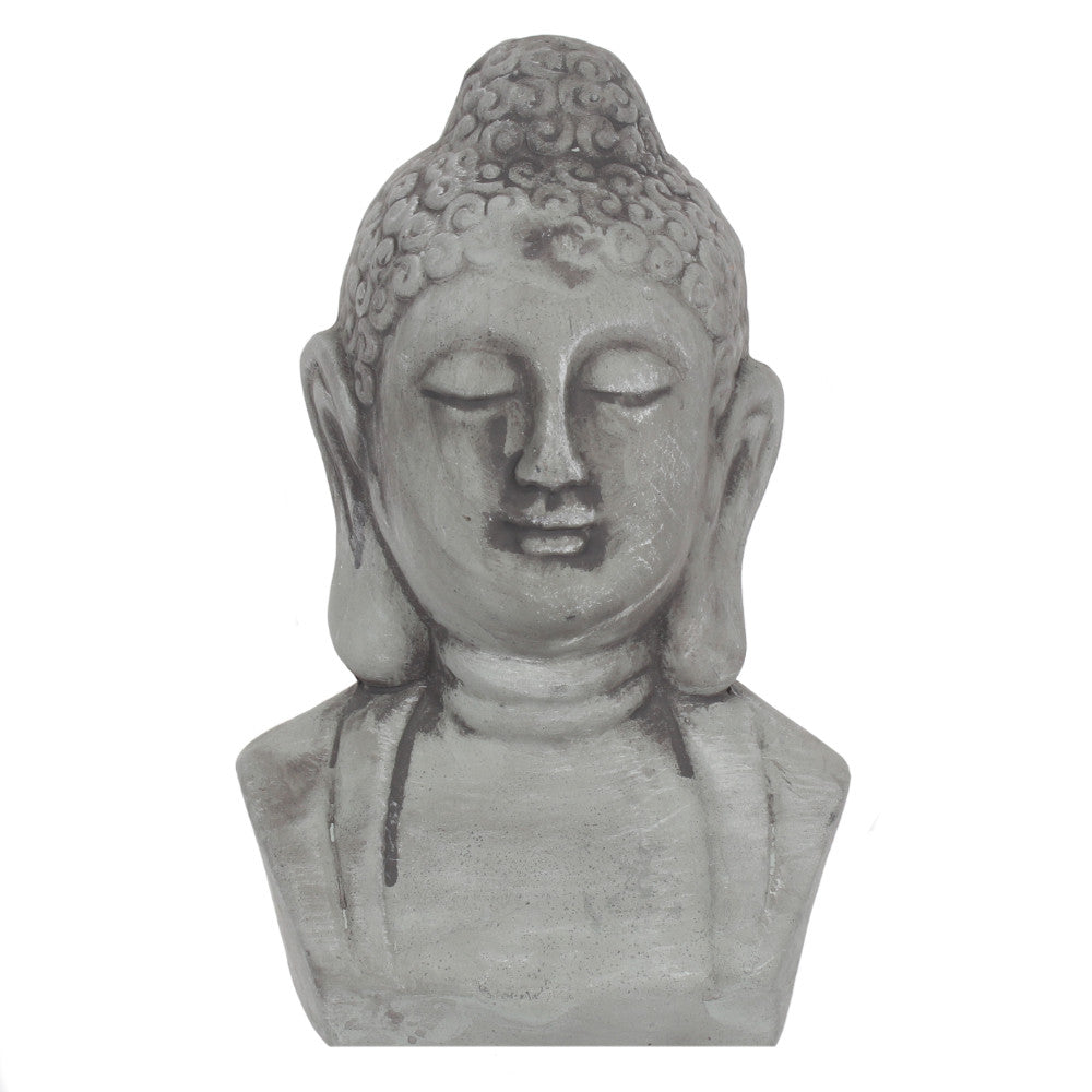 Grey Buddha Head Ornament