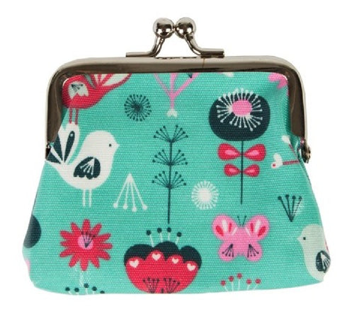 Birds and Butterflies Print Coin Purse - Miss Pretty London UK Limited