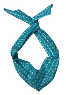 Aqua Blue Flamingo Print Wire Headband