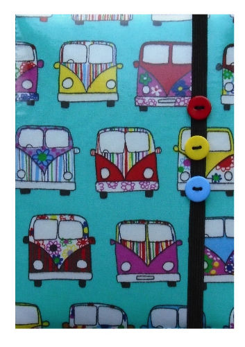 Aqua Blue Camper Van Print E-Reader Case - Miss Pretty London UK Limited