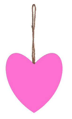 Plain_Baby_Pink_Plump_Fabric_Hanging_Heart