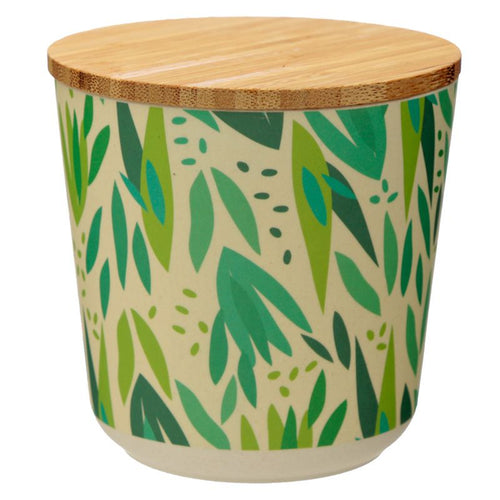Willow Bamboo Composite Small Round Storage Jar - Miss Pretty London UK Limited