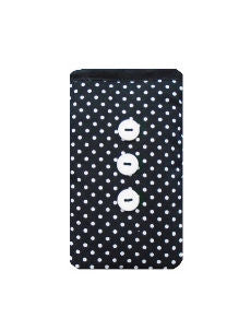 Black Polka Dot Print Mobile Phone Sock Pouch - Miss Pretty London UK Limited