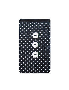 Black_Polka_Dot_Print_Mobile_Phone_Sock_Pouch
