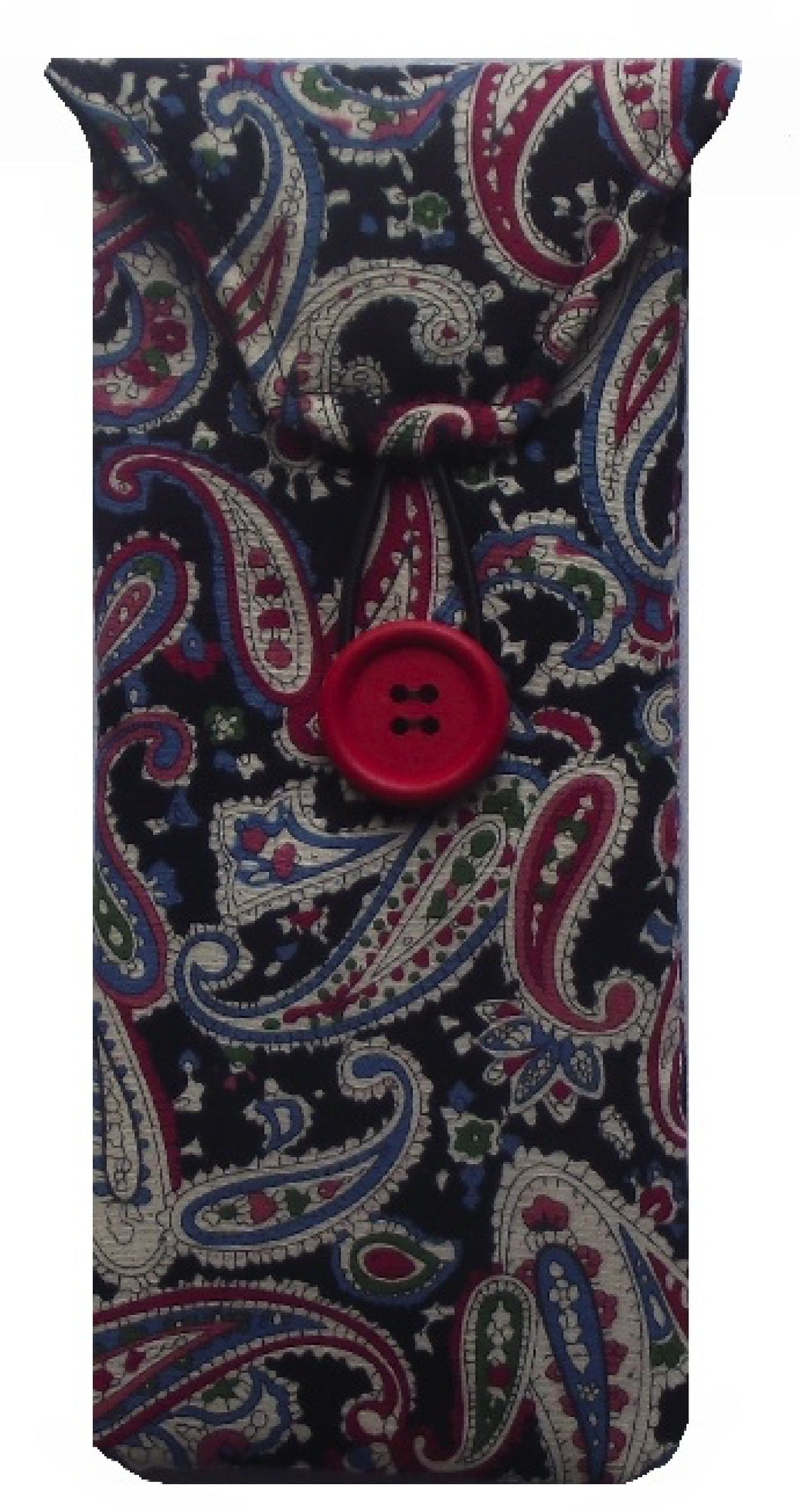 Black Paisley Print Glasses Case - Miss Pretty London UK Limited