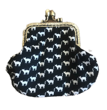 Black and White Cats Print Coin Purse
