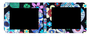Black Mexican Sugar Skulls Print Card Wallet
