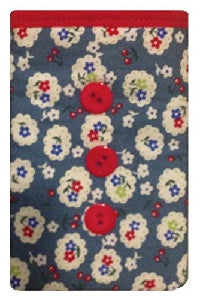 Blue Cherry Blossom Print Mobile Phone Sock Pouch - Miss Pretty London UK Limited