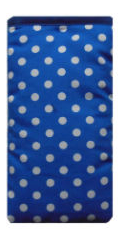 Blue and White Polka Dot Print Mobile Phone Sock Pouch